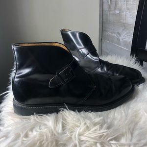 Bates Floataways black leather chukka ankle boots